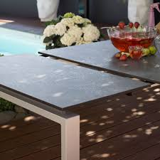 Float Dining Tables Extending Table 160210 X 95 Cm Aluminium Hpl