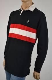 details about ralph lauren black red stripe rugby sweatshirt white pony nwt