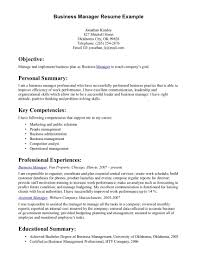 Business Management Resume Template Etseminaryorg