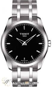 tissot couturier t035 446 11 051 00 men s stainless steel tissot couturier automatic men s watch stainless steel black dial t035 446 11