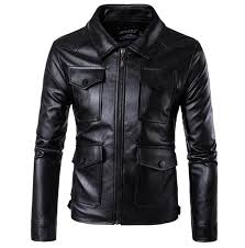 2018 new mens pu leather motorcycle jackets vintage jackets coats men multi pockets male biker punk classic moto jacket size m 5xl from cujuflo