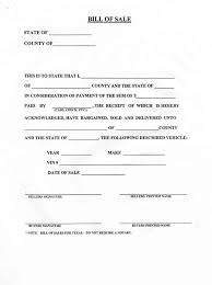 Vehicle Bill Of Sale Form Adorable Blank Bill Of Sale For A Car Form Download Pictures Of How To Write