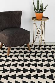 house decorative black and white rugs 13 chic ideas for rug colors urban triangle pattern plush