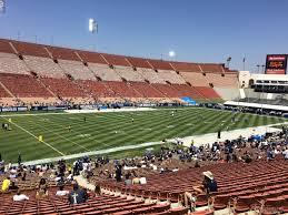 Usc Coliseum Seating Chart Los Angeles Memorial Coliseum Section 110a Rateyourseats Com