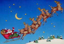 Billedresultat for julemand og rensdyr tegning