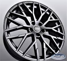 20 2017 R8 Style Black Wheel Rims Fit Audi A4 A6 A8 S4 S6 S8 Rs4 Rs6 1349 Mb Ebay Wheel Rims Black Wheels Audi
