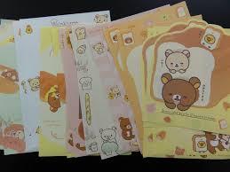 Z San X Rilakkuma Bear Bakery Memo Note Paper Set Alwayz Kawaii