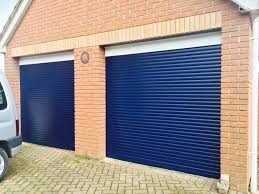 steel blue ral 5011 diy roller shutter garage door