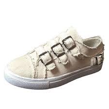 BEAUTYVAN <b>Women's</b> Slip On Sneakers Three <b>Buckle</b> Cowboy ...