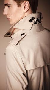 burberry the sandringham long heritage trench coat in natural for men lyst