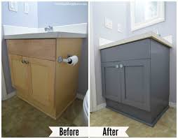 painting bathroom vanity before and after. so much better. what do you think? painting bathroom vanity before and after h
