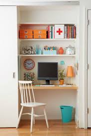 turn closet into office. doorless closet if creating a gorgeous home office is your goal then consider ditching the doors and letting world see how pretty desk turn into i