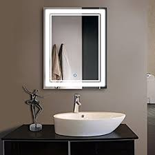bathroom mirrors with lights. 28 X 36 In Vertical LED Bathroom Silvered Mirror With Touch Button (C-CK160 Mirrors Lights E