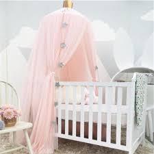 White Pink Gray Khaqi Princess Kids Crib Canopy, Nursery Canopy Bed ...