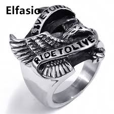 mens boys snless steel ring band motorcycle eagle whole biker jewelry size 8 15 in rings from jewelry accessories on aliexpress alibaba group
