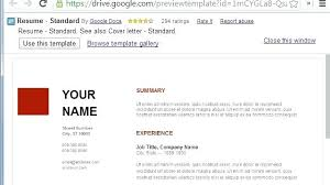 Google Drive Cover Letter Template Google Drive Resume Template