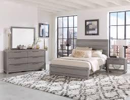 Vaughan-Bassett American Modern 4pc Plank Bedroom Set in Grey