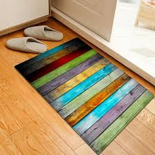best colorful striped pattern water absorption flannel area rug