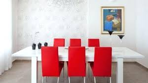 modern red dining chairs dining room