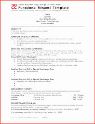 Accounting Clerk Functional Resume Sample Elegant Simple Functional