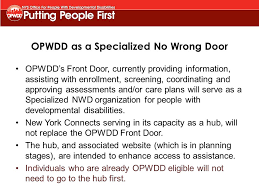 opwdd front doorNovember 7 2014 YAI NYSDASP Conference  ppt download