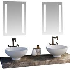 Modern Lighted Bathroom Mirrors