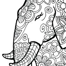 Coloring Pages For Adults To Print Free Printable Realistic Animal