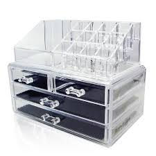 makeup organizer drawers walmart. acrylic makeup organizer cosmetic jewelry display box 2 piece set by acrylicase drawers walmart m