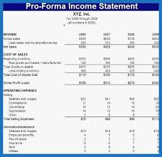 46 Amazing Pics Of Pro Forma Income Statement Template