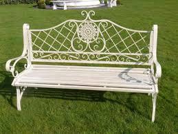 white iron garden furniture. Antique Style White Metal Garden Bench \u2022 McCartney S Yard Iron Furniture N
