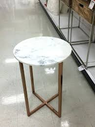 faux marble end table white