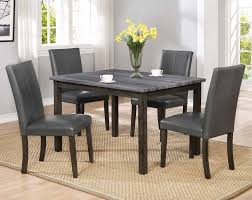 gray wood dining table. Pompei 5 Piece Dining Set Gray Wood Table