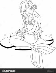 Small Picture Detailed Mermaid Coloring Mermaid Coloring Pages