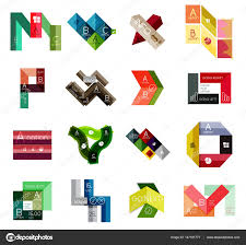 Stripe Templates Collection Of Colorful Line And Stripe Infographic Diagram Designs