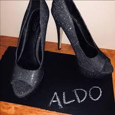 Aldo Black Sparkle Pumps
