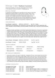 Duties Of A Medical Assistant For A Resumes Medical Assistant Job Description Resume