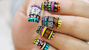 Aztec Nailart : Quick & Easy ! - YouTube