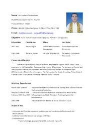 resume -(Instrument & Electrical Technician and Operator). Name: Mr.  Racharat Thukphakdee 64/56 Moobaanbofai Hau-Hin Hau-Hin ...
