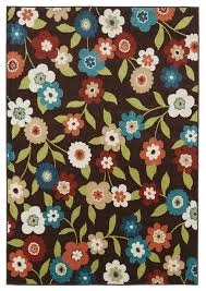 delectably yours decor decor daisy field brown indoor outdoor rug 5x8 or 8x10
