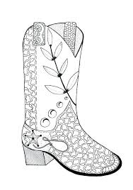 Cowboy Boot Coloring Pages Printable Cowboy Boots Coloring Pages
