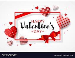 Happy Valentines Day Greeting Card Design With