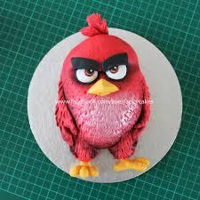 Red Angry Birds movie cake CakesDecor