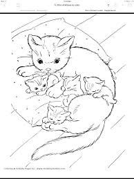 Cute Kitten Coloring Pages Kittens Coloring Pages Pictures Cute