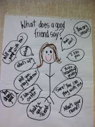 Friendship Chart For School Anchor Chart For Using Kind Words Classroom Ideas O
