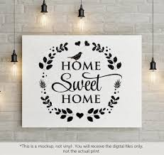Small Picture Home sweet home SVG file Cutting File Clipart in Svg Eps Dxf