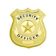 security guard badge template. Security Officer Star Center Shield Badge
