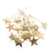 Amazonde 20 Stück Filigrane Gold Kraftpapier Sterne 5 5