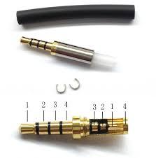 amazon com gold 4 pole 3 5mm male repair headphone jack plug amazon com gold 4 pole 3 5mm male repair headphone jack plug metal audio ering spring home audio theater