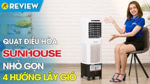 Quạt điều hòa Sunhouse: bình nước to, dùng cho không gian lớn (SHD7772) •  Điện máy XANH - YouTube