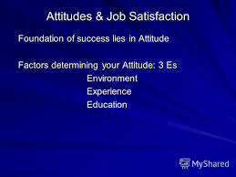 Презентация на тему attitudes job satisfaction foundation of  1 attitudes job satisfaction foundation of success lies in attitude factors determining your attitude 3 es environment environment experience experience